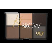 Набор для бровей Kit Brow тон 02 OLY style
