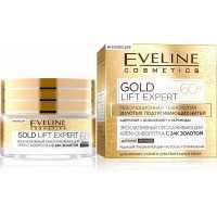 Эксклюзивный омолаживающий крем-сыворотка ночной с 24к золотом Gold Lift Expert 60+