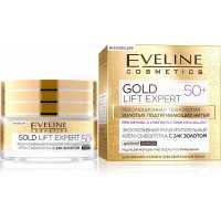 Эксклюзивный мультипитательный крем-сыворотка ночной с 24к золотом Gold Lift Expert 50+