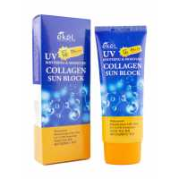 Солнцезащитный крем с коллагеном Soothing & Moisture Sun Block SPF50/PA+++ Collagen, 70 мл EKEL