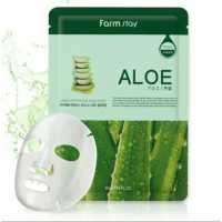 Тканевая маска для лица с экстрактом алоэ Real Aloe Essence Mask Farmstay