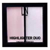 Хайлайтер для лица 2 в 1 кремовый и сухой Highlighter Duo 101 LN professional