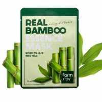 Тканевая маска для лица с экстрактом бамбука Real Bamboo Essence Mask Farmstay