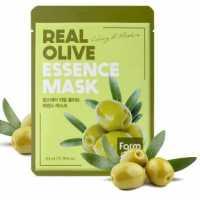 Тканевая маска для лица с экстрактом оливы Real Olive Essence Mask Farmstay