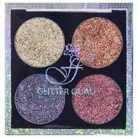 Тени для век 4-цветные с блестками Glitter Quad 01 Ffleur