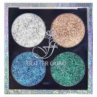 Тени для век 4-цветные с блестками Glitter Quad 02 Ffleur