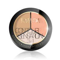 Палитра для макияжа 3 в 1 (бронзатор+хайлайтер+румяна) Eveline