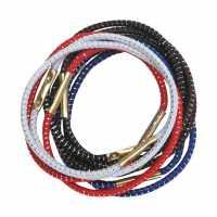Резинки для волос с серебряной нитью, цветные, миди (10 шт.) DEWAL RE011