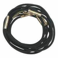 Резинки для волос черные, миди (10 шт.) DEWAL RE024