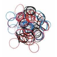 Резинки для волос цветные, силиконовые, мини (100 шт) DEWAL RES031