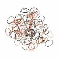 Резинки для волос DEWAL цветные силиконовые, мини (100 шт) RES034
