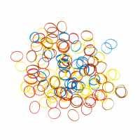 Резинки для волос DEWAL цветные силиконовые, mix мини (100 шт) RES035