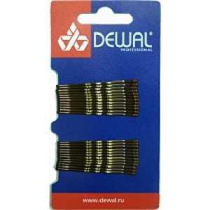 Невидимки DEWAL волна, коричневые 50 мм (24шт) SLN50V-3/24